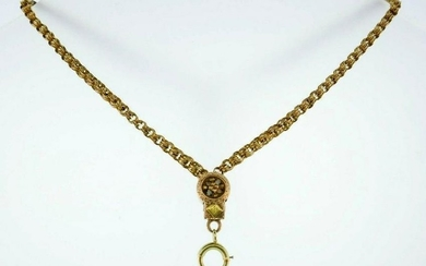 10k Yellow Gold Victorian Watch Chain Bracelet with