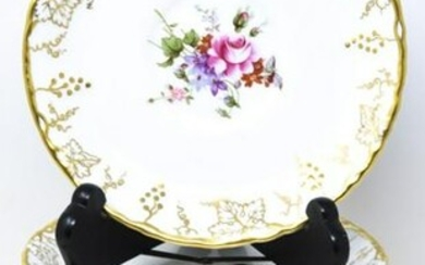 18 Royal Crown Derby Gold Vine Soup Saucers
