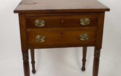 19th C. Sheraton Two-Drawer Stand