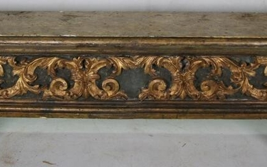 19th CENTURY CARVED BRACKET CONSOLE TABLE