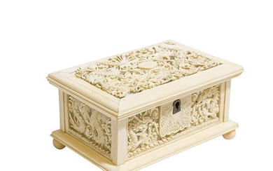 19th Century Carved Chinese Export Box