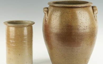 2 NC Stoneware Pottery Items, incl. Griffin Collection