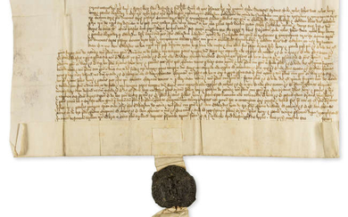 Henry VIII. Chancery document relating to the manor of Northstead and Chelsfield in Kent, manuscript in Latin, on vellum, 1530.