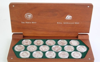 A Cased Set of Sydney 2000 Olympic Silver Coin Collection (Perth Mint and Royal Australian Mint)