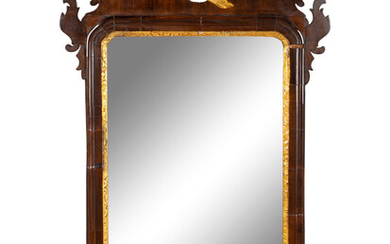 A Chippendale Parcel-Gilt Mahogany Mirror