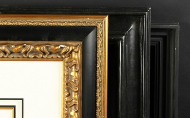 "A Collection of Three Ebonised Frames. 14"" x 13"""