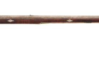(A) FLINTLOCK KENTUCKY RIFLE ATTRIBUTED TO GEORGE