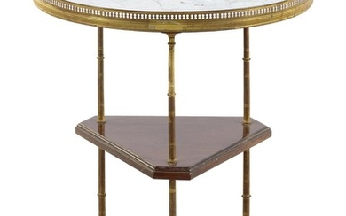 A French Three-Tiered Marble-Top Side Table