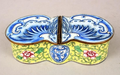 A GOOD 19TH / 20TH CENTURY CHINESE CANTON ENAMEL HINGED