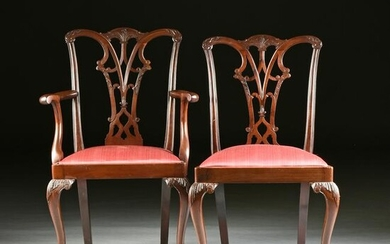 A SET OF EIGHT GEORGE III (1760-1811) STYLE MAHOGANY