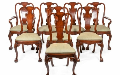 A Set of Eight George I Style Walnut Dining Chairs