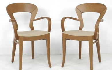 A pair of modern Italian chairs, by Potocco, with...