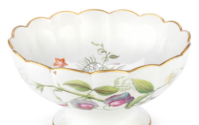 A rare Derby botanical footed bowl