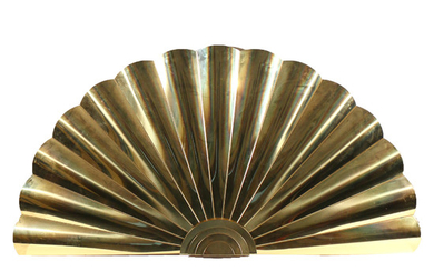 ART DECO STYLE FAN FORM BRASS HANGING SCULPTURE