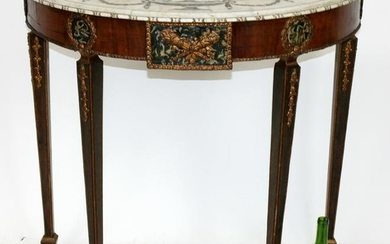 Adams style marble top console