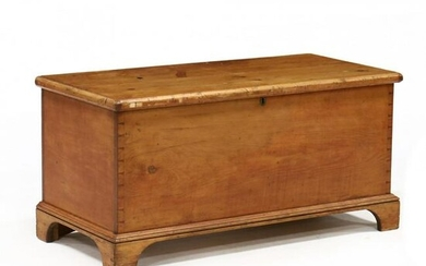 American Chippendale Pine Blanket Chest