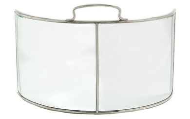 American Sterling Silver and Glass Table Screen