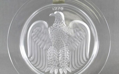 "Antique Lalique Collector Plate"" American Eagle-1976"""