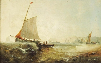 Attributed to George Knight (FL.1872-1892), Sailing