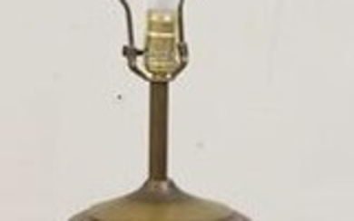 BRASS BLACK LACQUER LAMP W/ MOP INLAY