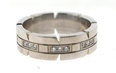 COLLECTIBLE Cartier 18k White Gold & Diamond Band!