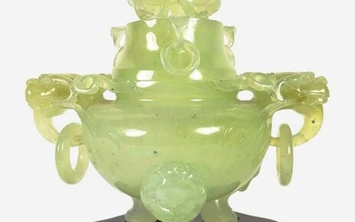 Carved Chinese Hardstone Censer, Qing Dynasty