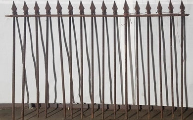 Cast Iron Fence Section formally Central Station Sydney (total length-20.09m h:156cm)