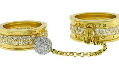 Cavsa Serva Amoris Gold Eternity BAND RING Duo with