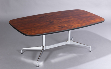 Charles and Ray Eames. Vintage 'Segmented Table', Brazilian rosewood, L. 182 cm, D. 107 cm