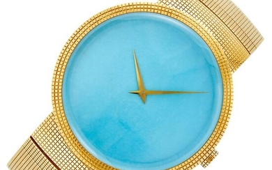 Christian Dior Gold and Turquoise Wristwatch