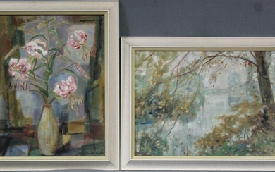 Clear ROEDER-MÜNCH (1910-1988). 2 paintings.