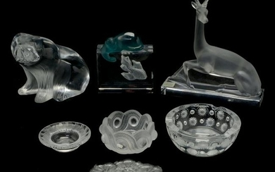 Collection of Lalique and Daum Items.