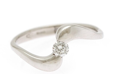 NOT SOLD. Comete: A diamond ring set with a brilliant-cut diamond, mounted in 18k white...
