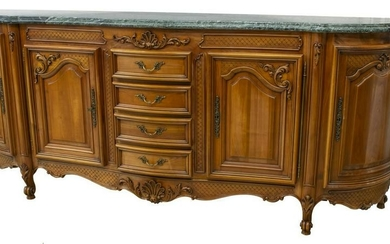 FRENCH LOUIS XV STYLE MARBLE-TOP SIDEBOARD