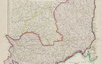 France.- Bonne (Rigobert) A group of regional maps including Normandy, Brittany, Champagne, Isle de France, Gascony and Languedoc, 1774-1786 (14)