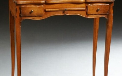 French Louis XV Style Carved Cherry Dressing Table