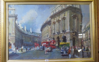 Gary Jeffrey Regent Street oil on board 60 x 90 cm (Semi-fin...