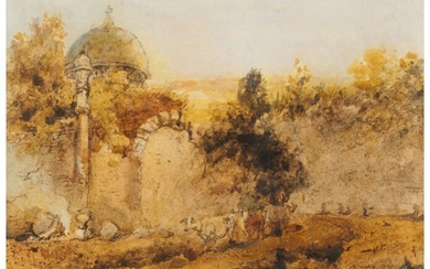 George Chinnery (1774-1852), A ruined temple, Bengal