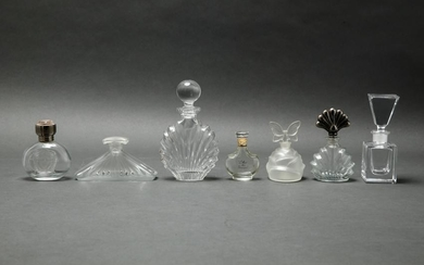 Group Of Glass Perfume / Scent Bottles, 7