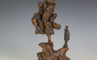 Hand Carved Root Carving Sculpture c.1860 China