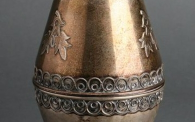 Judaica Sterling Silver Covered Vessel