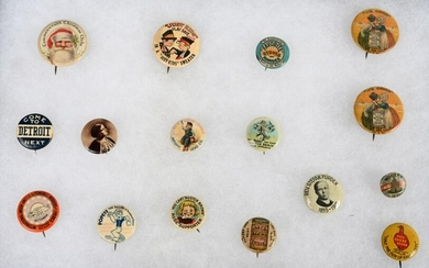 LOT OF ADVERTISING BUTTONS & MORE
