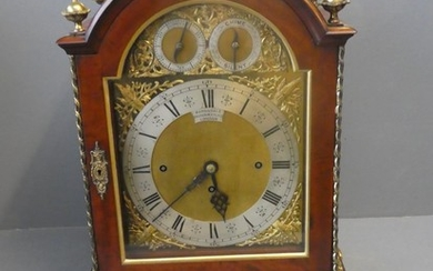 Large mahogany cased bracket clock by Barnsdale of London wi...