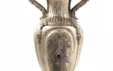 Large silver jug, with 2 very nice handles and...