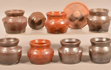 Lot of Redware Pottery Attributed to Schofield.