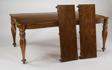 Louis XV style mahogany dining table with two leaves