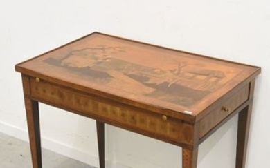 Louis XVI desk table with 2 drawers and...