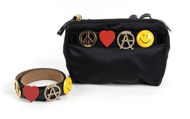 MOSCHINO REDWALL BAG AND BELT 90s A Peace Love Anarchy...