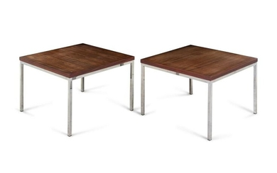 Manner of Florence Knoll 20th Century Pair of End