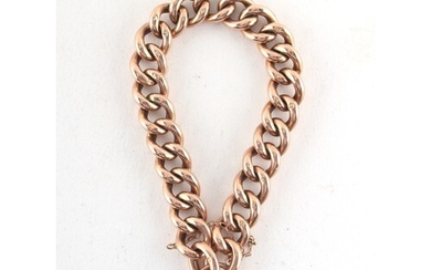 Property of a deceased estate - a 9ct gold chain link bracel...